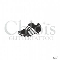 Chaussure de foot N°6506 pochoir chloïs Glittertattoo pour tatouage temporaire