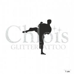 Arts martiaux N°6512 pochoir chloïs Glittertattoo pour tatouage temporaire