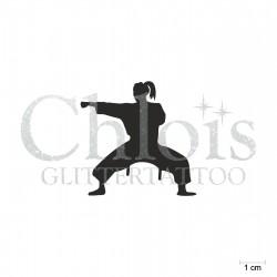 Arts martiaux N°6514 pochoir chloïs Glittertattoo pour tatouage temporaire