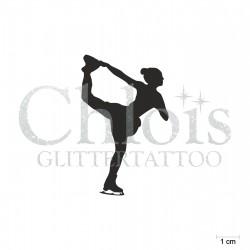 Patineuse N°6530 pochoir chloïs Glittertattoo pour tatouage temporaire