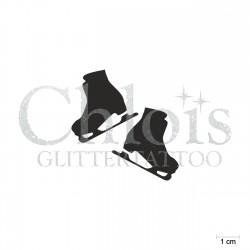 Patins à glace N°6531 pochoir chloïs Glittertattoo pour tatouage temporaire