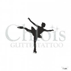 Patineuse artistique N°6534 pochoir chloïs Glittertattoo pour tatouage temporaire