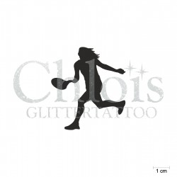 Tenniswoman N°6550 pochoir chloïs Glittertattoo pour tatouage temporaire