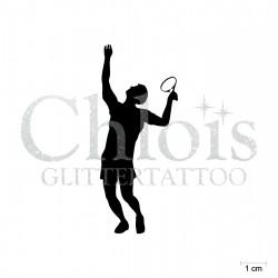 Tennisman N°6551 pochoir chloïs Glittertattoo pour tatouage temporaire
