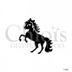 Cute Pony Bella n°1809 pochoir pour tatouage enfant paillette anniversaire