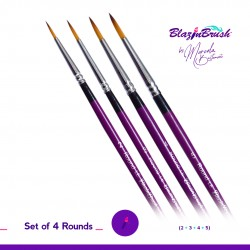 Kit de 4 pinceaux ronds n°2-3-4 et 5 de Blazin Brush