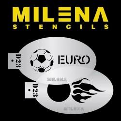 Pochoir Ballon de foot D23 de Milena Potekhina