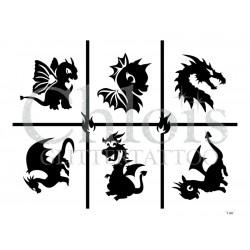 """Planche à thème """"Dragons"""" n° 29807"""
