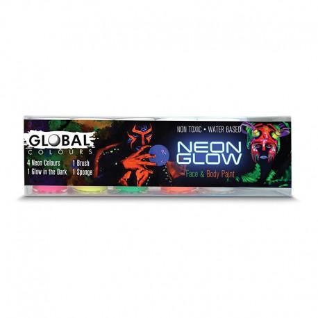Peinture liquide Kit de couleurs Neon Global Colours 45ml
