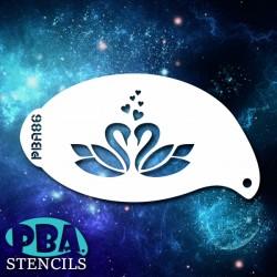 Pochoir PBA n°86 - Cygnes